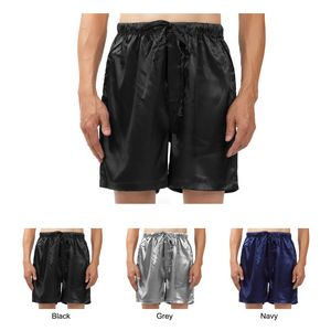 Custom Men's Stretch Silky Satin Pajama Boxer Shorts, Sleepwear