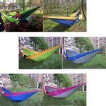 Custom Indoor & Outdoor Swinging Hammock (Blue)