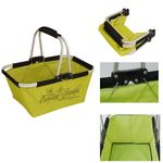 Custom Collapsible Portable Basket- Yellow
