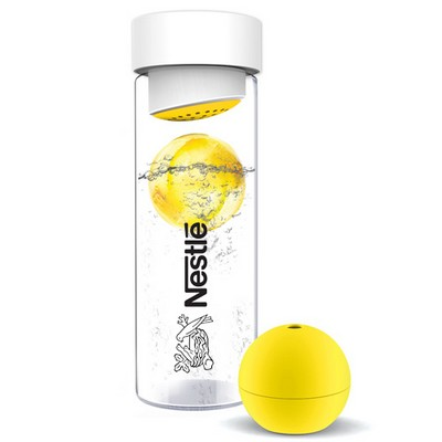 Ice Ball Flavourit Glass Water Bottle