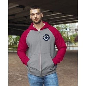 Ethica unisex hooded full zip and raglan sleeve sweater