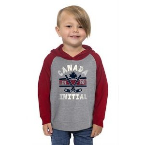 Initial toddler unisex hooded and raglan sleeve sweater