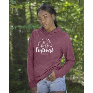 Initial women's hooded long sleeve t-shirt