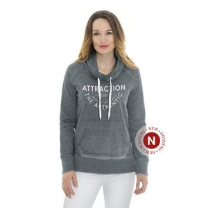 Initial women's funnel burnout sweater