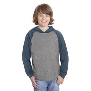 Initial youth unisex hooded and raglan sleeve sweater