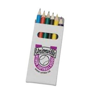 Boxed 6 Colored Pencils Set