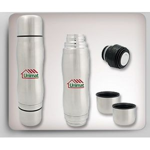 16 Oz. Thermos w/ 2 Small Cups