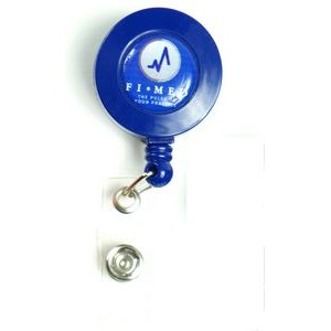 Navy Blue Retractable Badge Reel Holder
