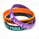Custom Color Filled Wristbands/Debossed Ink Filled