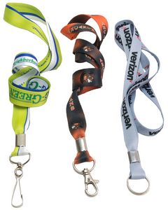 Low Minimum Made in USA 3/4 Full Color Dye Sublimation Lanyard