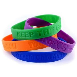 1/2'' Debossed Wristband