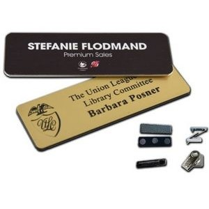 "Name Badge w/Engraved Personalization (1.5""x3"")"