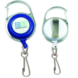 Retractable Carabiner Badge Holder