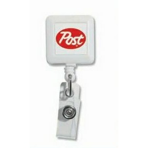 Square Badge Reels w/Full Color print