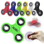 Custom Green Fidget Spinner Toy with Metal Slugs comes with Free Shipping and No Setup