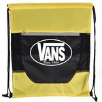 Custom Tri Color Front Zipper Drawstring Bag