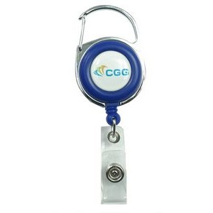 Blue Retractable Carabiner Badge Reel