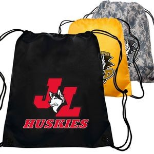 "Polyester Drawstring Backpack 14"" x 16.5"""
