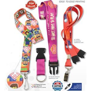 "Full Color Lanyards - 7 DAYS Delivered 3/4"" (20mm)"