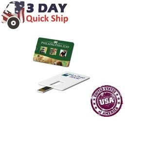 128 MB USA Decorated Credit Card USB Flash Drive