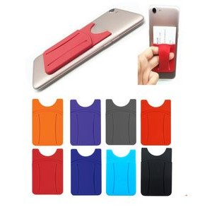 Silicone Phone Wallet w/Finger Slot