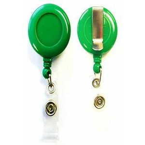Blank Green Round Retractable Reel