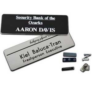 "Name Badge w/Engraved Personalization (1.25""x3"")"