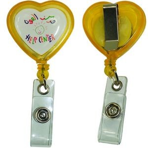 Heart Shape Badge Reel