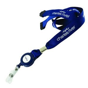 "3/4"" Lanyard w/Retractable Reel & Safety Breakaway"