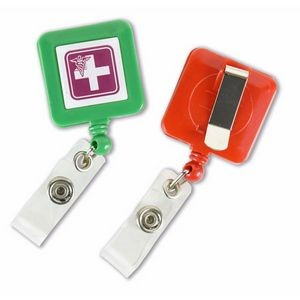 Square Badge Reel