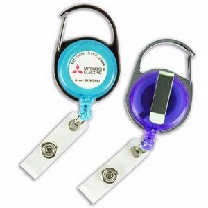 Transparent Carabiner Badge Reels