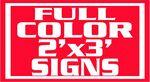 Custom 4Mil Coroplast Full Color Yard Sign/ 1 Sided (24