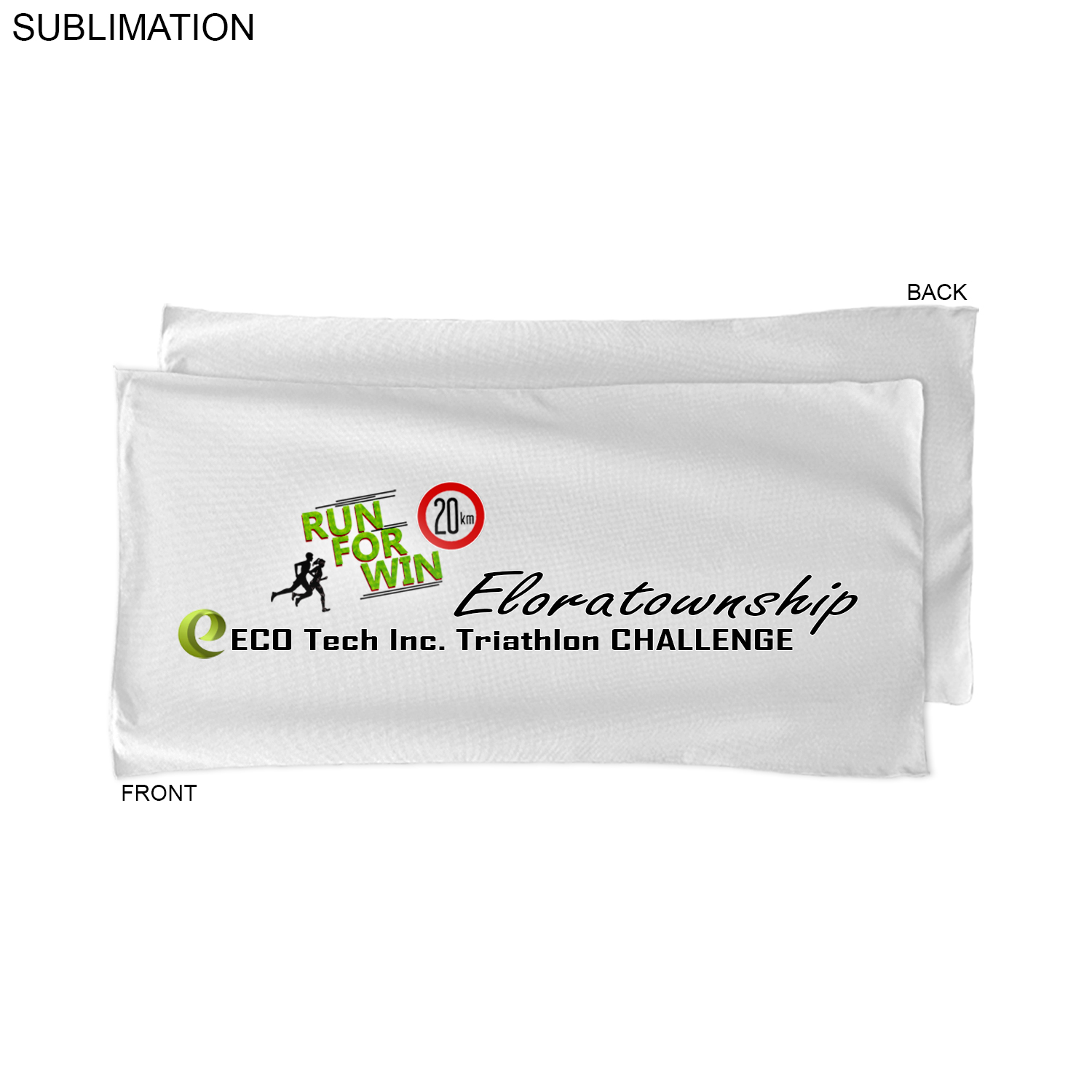 Microfiber Terry Triathlon Towel, 22x44, #SU463W-5, Full Colour Imprint