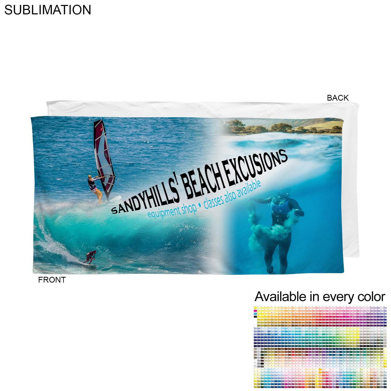 Velour Cotton Blend Branding Towel, 30x60, #SU586-13, Full Colour Imprint