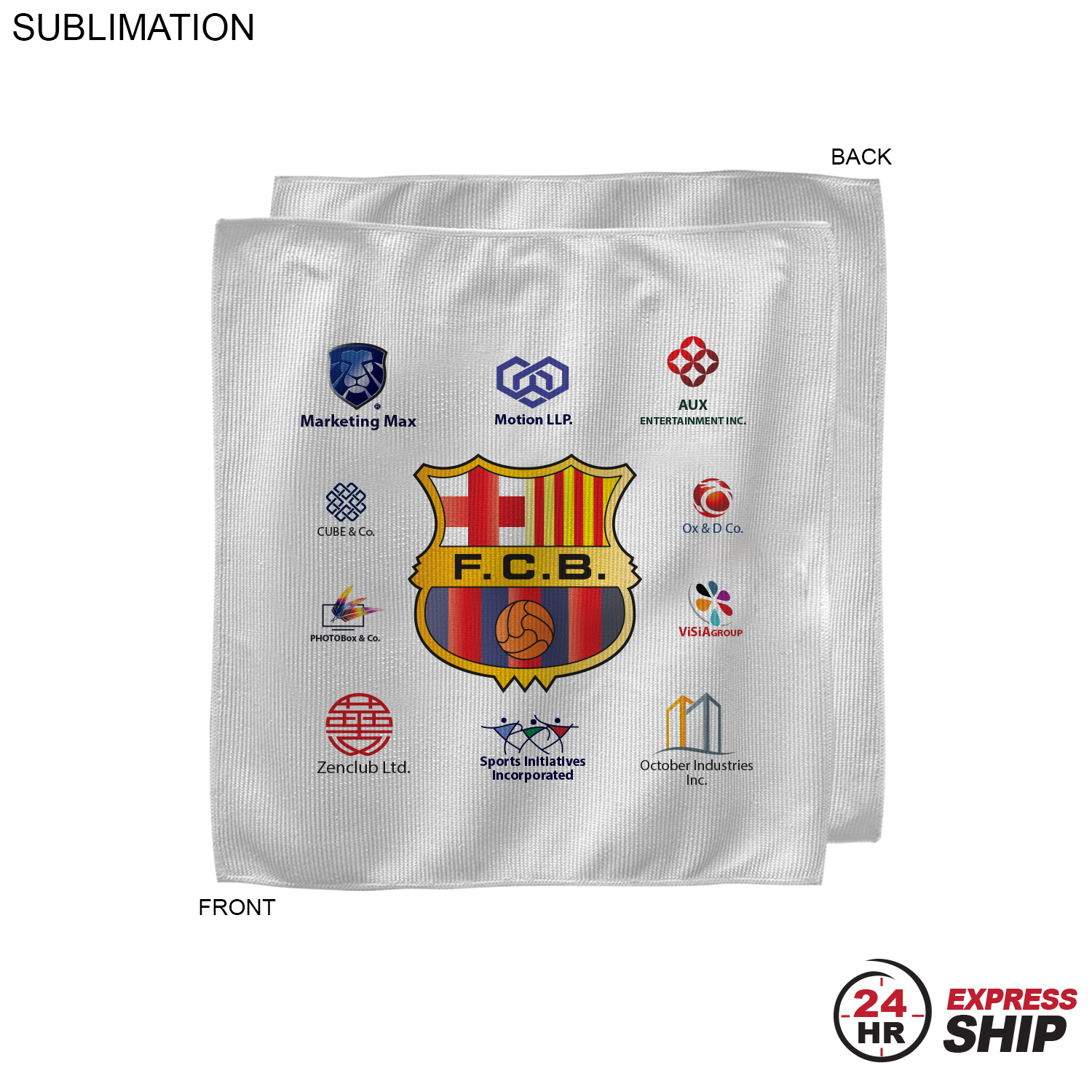 Sponsorship Rally Towel, 10x10, #SU208-7, Full Colour Imprint