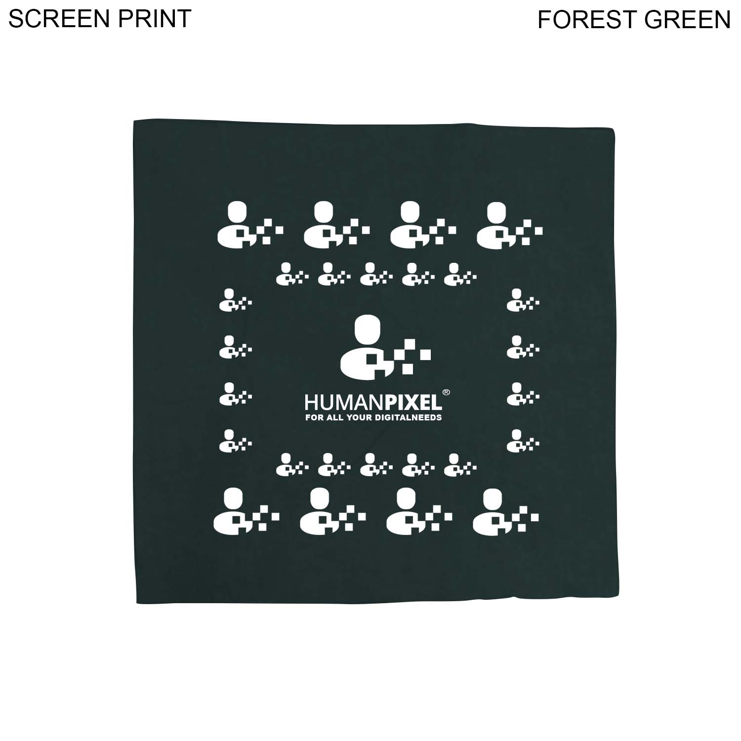 Small Bandana, 14x14, #PR633, 1 Colour Imprint