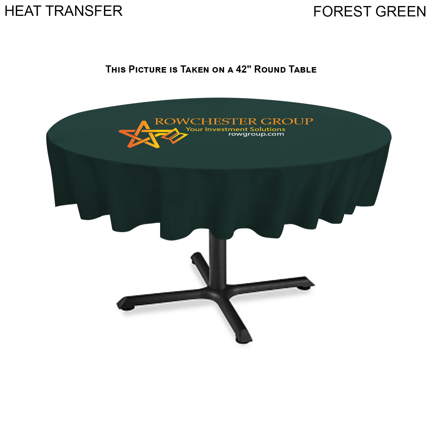 Table Runner, Closed Back, 60 x 90, #HT623, 1 Colour Imprint