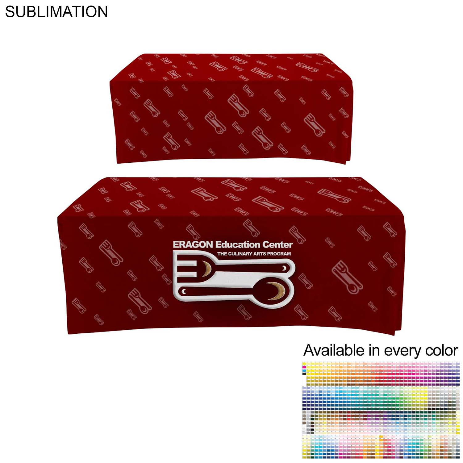 Box Style Cloth for 6' Table (Closed Back), #SU508, Full Colour Imprint