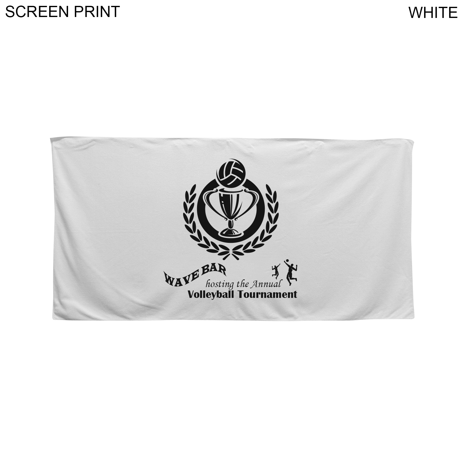 Velour Cotton Blend Beach Towel, 30x60, #PR586, 1 Colour Imprint