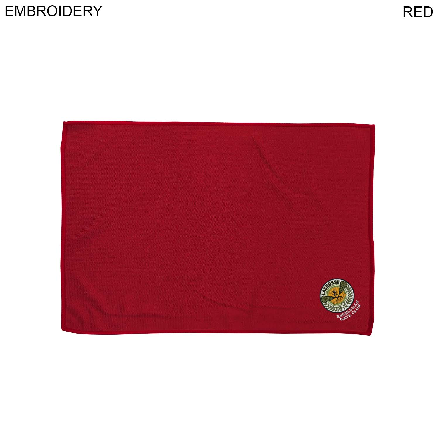 Colored Microfiber Towel 12x18, #EM178C, Embroidered