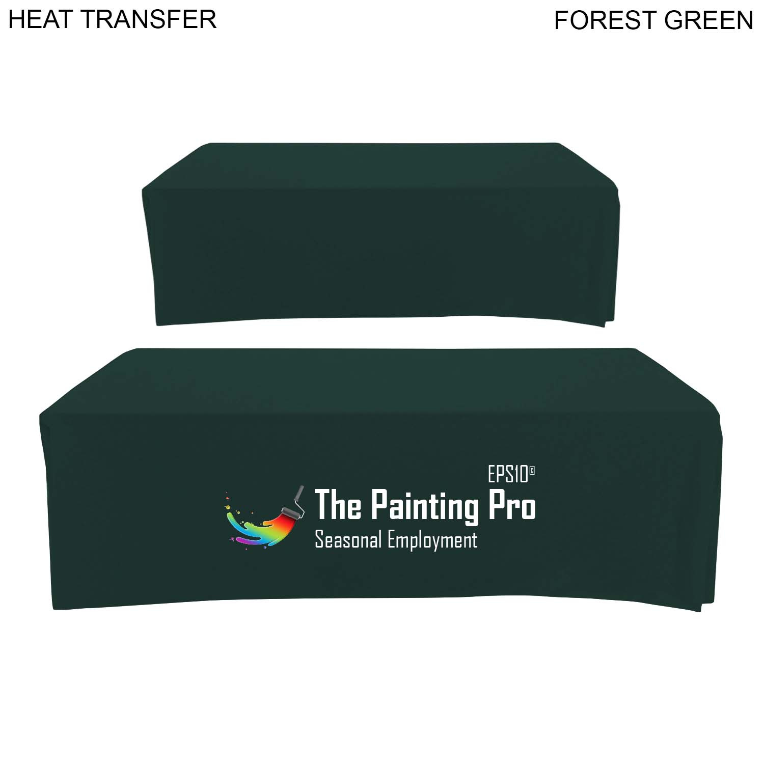 Box Style Cloth for 8' Table (Closed Back), #HT615, 1 Colour Imprint