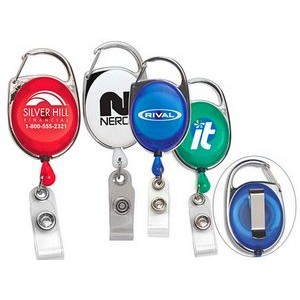 Badge Reel with Carabiner