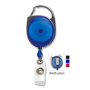 Carabiner Retractable Reel w/ Belt Clip (Blank)