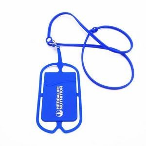 Silicone Lanyard With Phone Holder/Wallet
