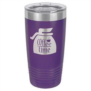 20 oz. Matte Purple Ringneck Vacuum Insulated Tumbler w/Clear Lid