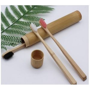 Bamboo Charcoal Toothbrush Biodegradable Holder Case