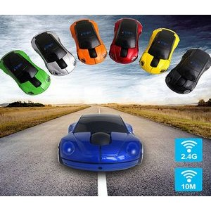 Sports Car shaped 2.4G Wireless Mouse - Multiple colors