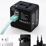 Custom Dual USB Universal Travel Adapter