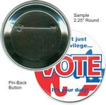 Custom Custom Buttons - 2 1/4 Inch Round, Pin-back