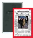 Custom Political - Washington Post, Obama Takes Charge - 2 X 3 Inch Rect. Button